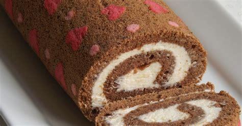 heart patterned roll cake baking secrets širdelių vyniotinis heart patterned cake