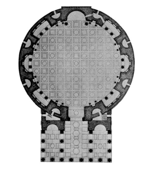 pantheon floor plan floorplan pantheon rome 125 28 ad