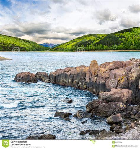 rocky shore royalty free stock image cartoondealer - Boat Dealers Near High Rock Lake