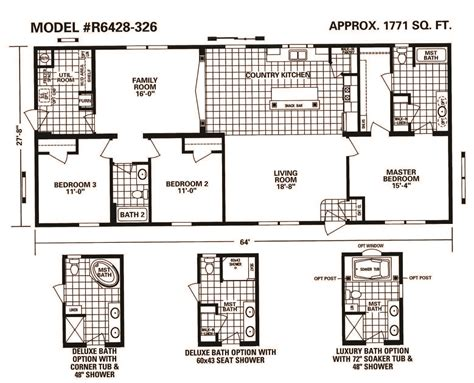 main street homes floor plans schult main street 6428 326 excelsior homes west inc