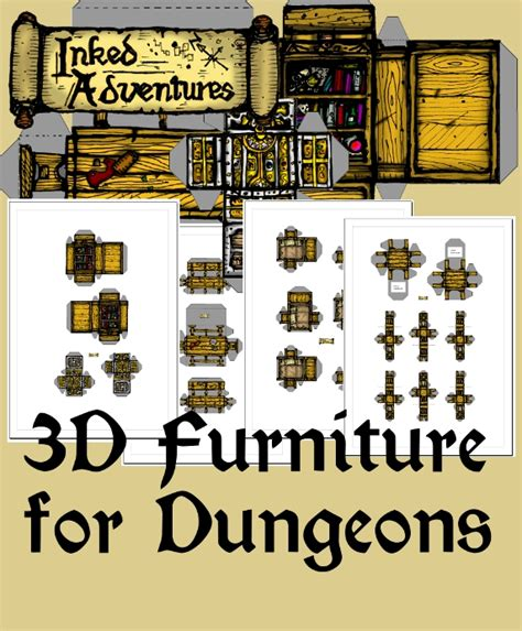 D D Upholstery by Dungeon Tiles New Product Inked Adventures 3d Furniture