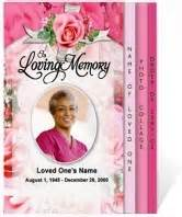 beautiful funeral programs this precious graduated funeral program boasts an array of beautiful soft pink roses along the
