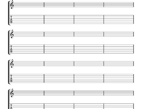 printable staff paper for guitar blank piano staff free guitar tab paper pictures