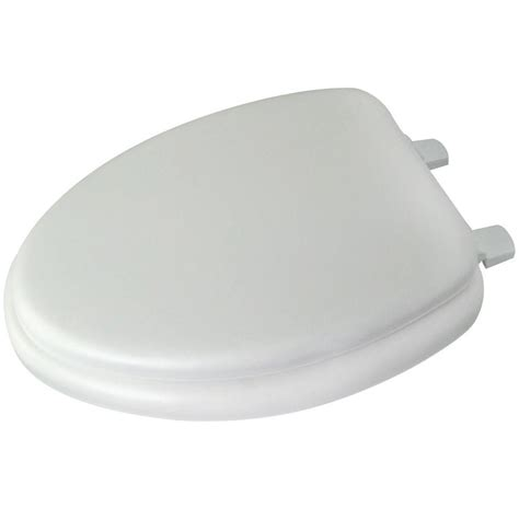 home depot elongated toilet seat glacier bay elongated closed front toilet seat in white