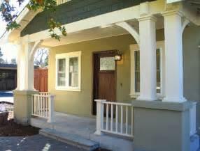 Rectangular House Plans Craftsman Bungalow Front Porch