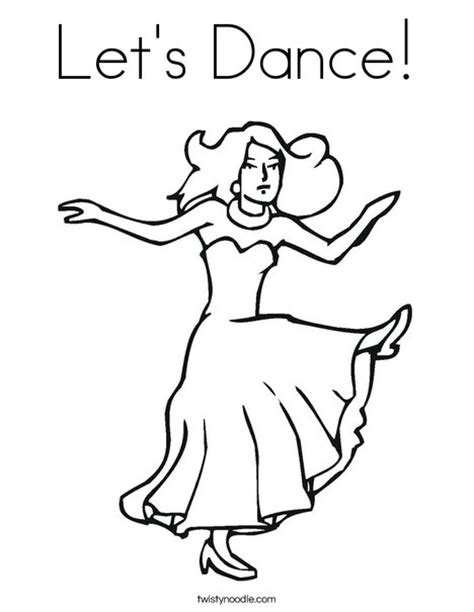 star dance coloring pages free coloring pages for kids let s dance coloring page twisty noodle