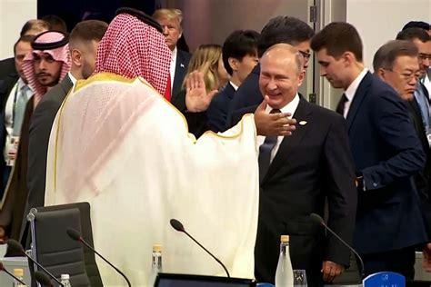 moment vladimir putin  saudi crown prince high