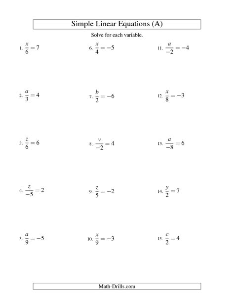 printable math worksheets linear equations worksheet linear equations worksheets hunterhq free