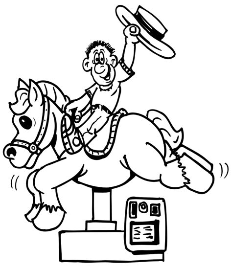 pony ride coloring pages rides coloring pages