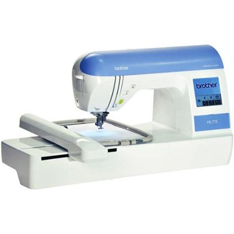 brother pe770 computerized embroidery machine with 5 x 7
