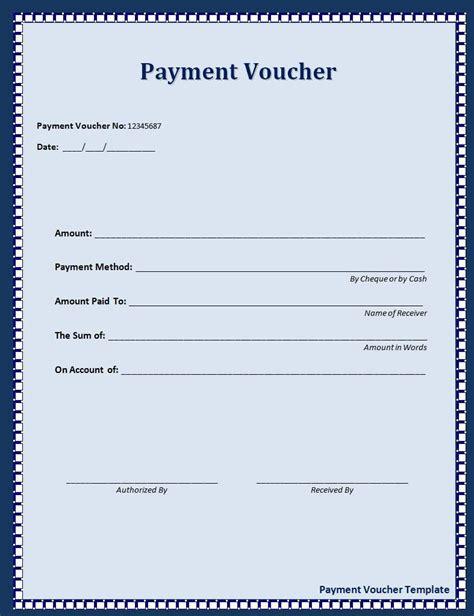 payment voucher template sle templates pinterest