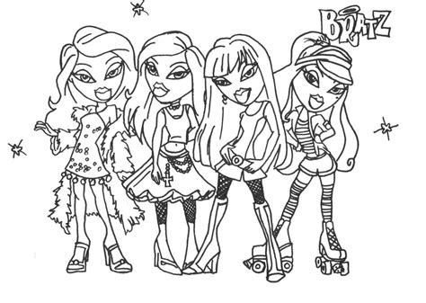 coloring pages mega blog bratz coloring pages