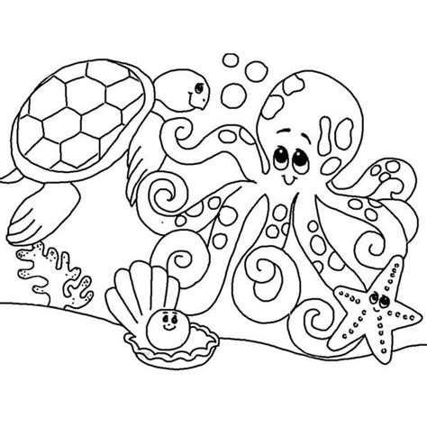 coloring pages underwater animals coloring pages sea animals coloring page freescoregov