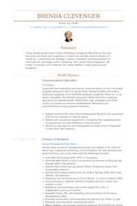 Communication Specialist Sle Resume by Communications Specialist Resume Sles Visualcv Resume Sles Database