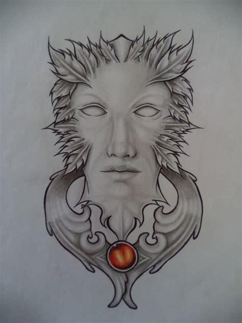 green man tattoo designs green design weasyl