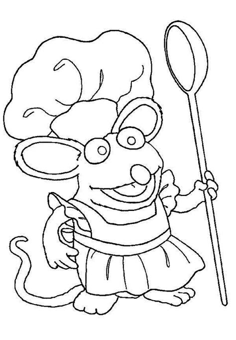 chef tutter cook at bear inthe big blue house coloring