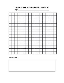create your own word search by catherine scheller tpt