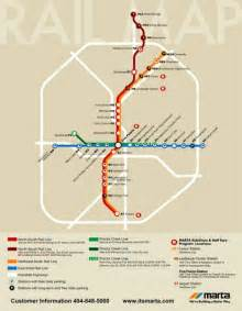 Atlanta Train Map by Atlanta Marta Rail Map Atlanta Ga Mappery