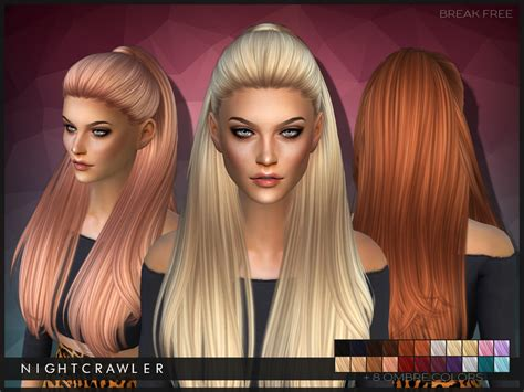 Sims 4 Hair The Sims Resource | nightcrawler sims nightcrawler break free
