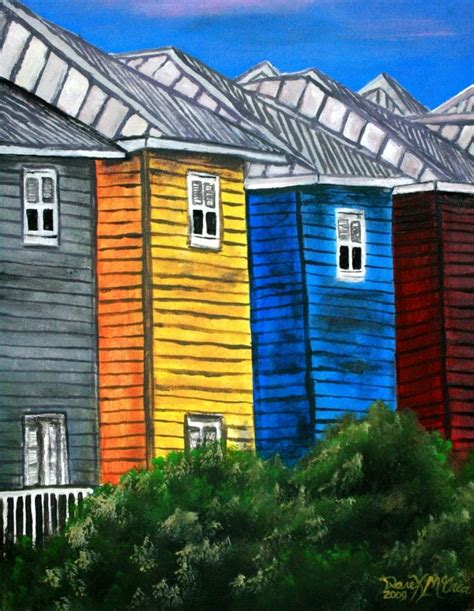 house prints watercolor paintings art by derek mccrea beach houses