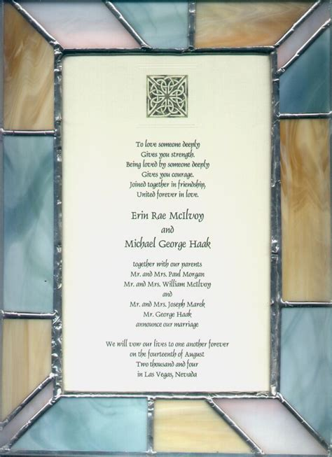 wedding invitation keepsake plaque stained glass plaques gifts 3 boy home services
