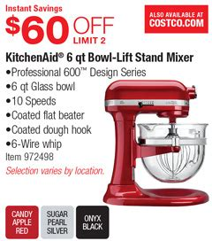 amusing 30 kitchenaid mixers at costco decorating design