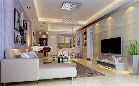 modern living room lighting wall interior 3d design