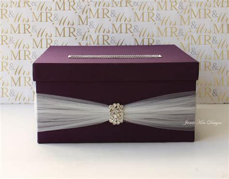 How To Make Gift Card Boxes For Weddings - wedding card box wedding money box custom made by jamiekimdesigns