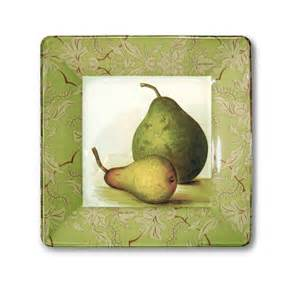 Decoupage Bookcase Pear Art Country Kitchen Decor Glass By Glasspaperscizzors