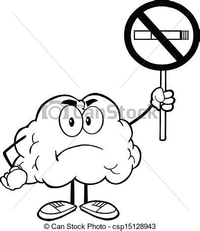 no smoking sign dwg eps vector of outlined brain with no smoking sign