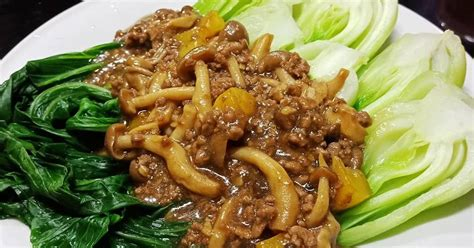 resep jamur shimeji enak  sederhana cookpad