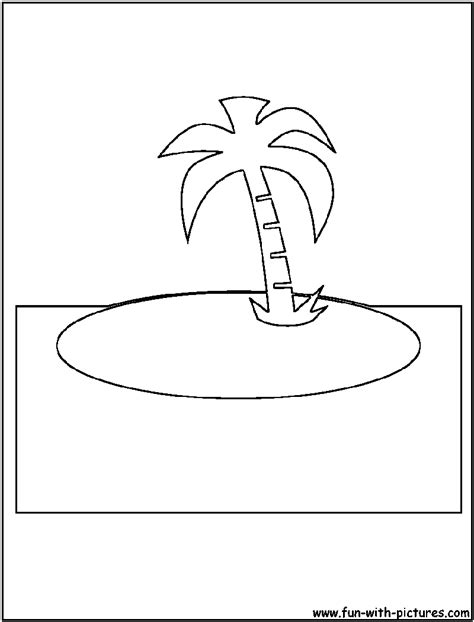 island cutout coloring page