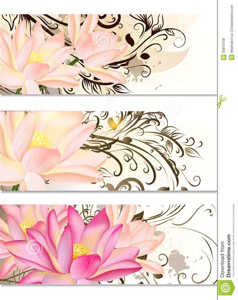 testo lotus flower insieme di biglietti da visita con i fiori di loto e l