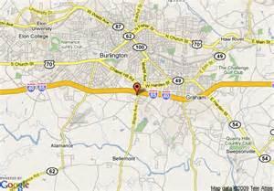 map of burlington carolina map of microtel inn and suites burlington burlington