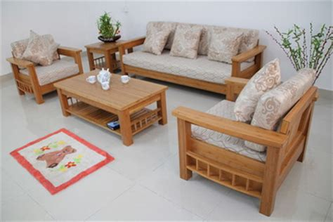 Sofa Set Designs Made Of Wood Wood Living Room Sofa And Table In Small Modern Living