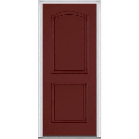 32 X 73 Exterior Door Mmi Door 32 In X 80 In Left Inswing 2 Panel Archtop Classic Painted Fiberglass Smooth