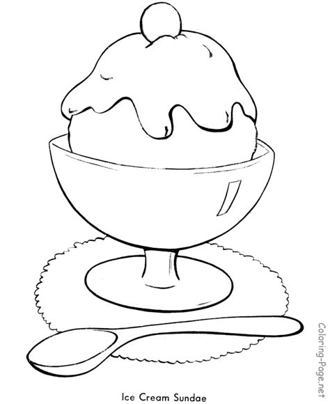 summer ice cream coloring pages summer coloring pages a summer ice cream sundae az