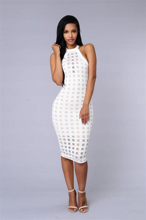 Dress The Fashion brickhouse dress white