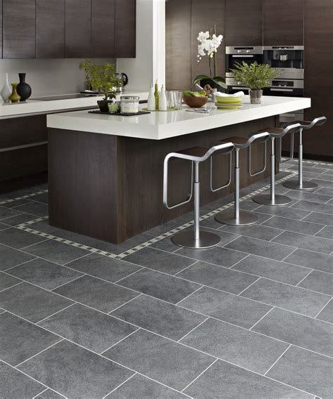 kitchen tile flooring ideas design ideas marvellous kitchen design ideas with charcoal karndean floor tiles along