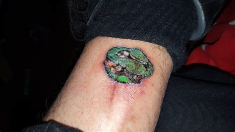 infected tattoo wait for it help is this infected big tattoo planet community forum
