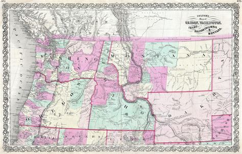 map of oregon and idaho file 1866 colton map of oregon washington idaho and