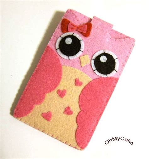 Touch Purse Dompet Hp Serbaguna As Seen On Tv Berkualitas 1 custom size pink owl felt iphone cell phone sleeve