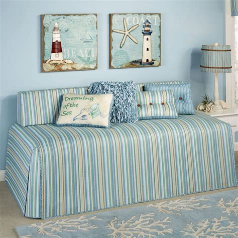 clearwater coastal striped hollywood daybed cover