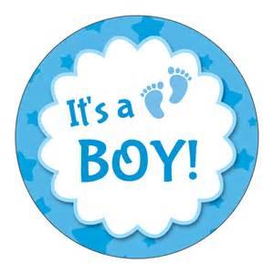 it s a boy circle sticker by bottleyourbrand