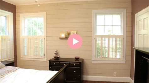Accent Wall Ideas For Bedroom by Installing Budget Friendly Shiplap Checking In With Chelsea