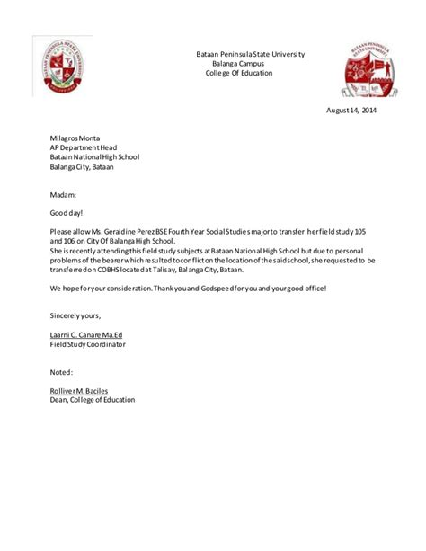 Official Letter Format To College Formal Letter