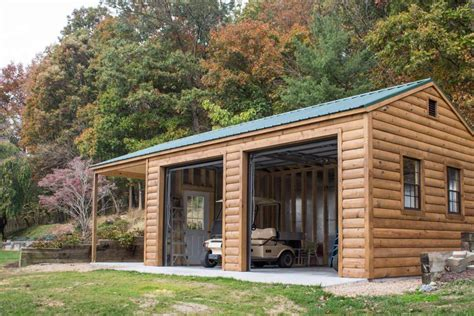 log home with 2 garages log home garage plans linwood 14x32 log garage 2 car garage byler barns
