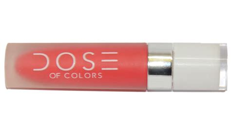 Moodmatcher Liquid Matte Coral Crush dose of colors matte liquid lipstick coral crush review