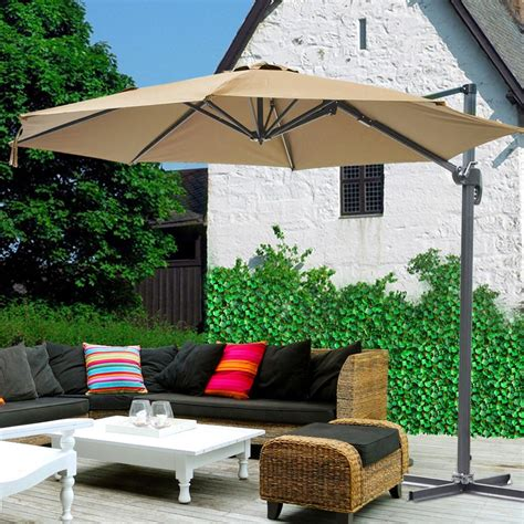 10' Hanging Roma Offset Umbrella Outdoor Patio Sun Shade