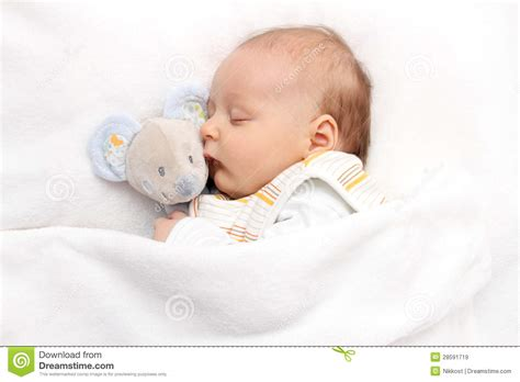 baby sleeping bed baby sleeping in bed royalty free stock images image 28591719